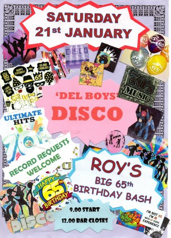 Del Boys Disco and Roy's 65th Birthday Bash